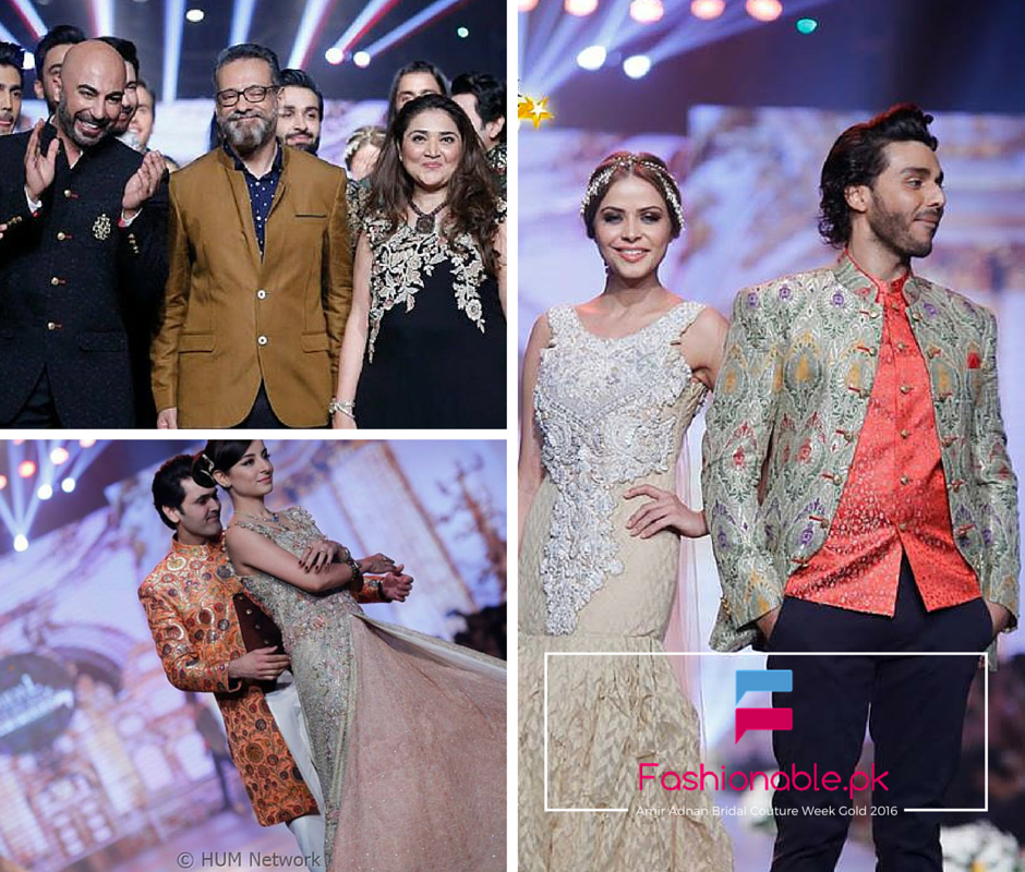 Amir Adnan Ceremony Collection At Bridal Couture Week Gold 2016
