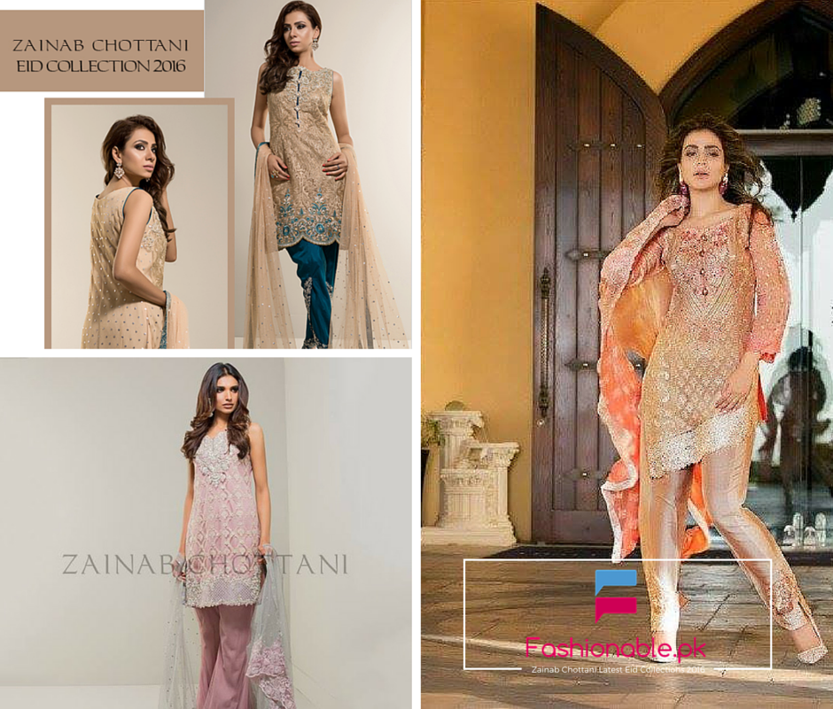 Zainab Chottani Latest Eid Collection 2016