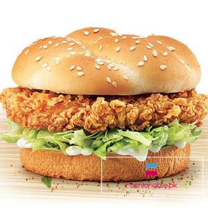 Chicken Zinger Burger Recipe Delicious