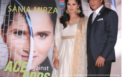 Shahrukh Khan proudly launches Sania Mirza's Autobiography 'Ace Against Odds'