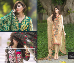 So Kamal Embroidered Chiffon Winter/Fall Collection 2016