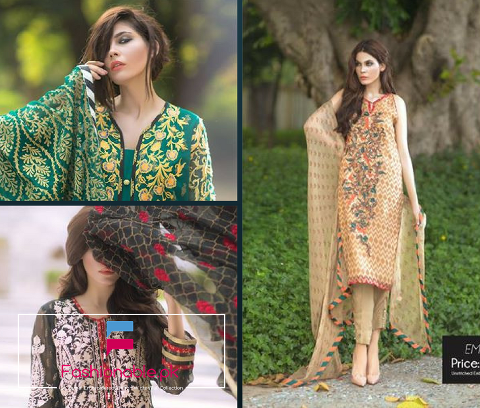 So Kamal Embroidered Chiffon Winter and Fall Collection