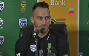 Du Plessis seems more confident SAvsAus Test Series 2016