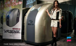 New VR cabinet will let you smell and touch a virtual world