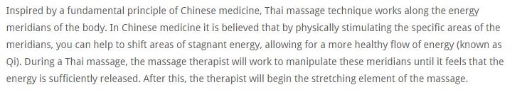 Thai Massage improve energy