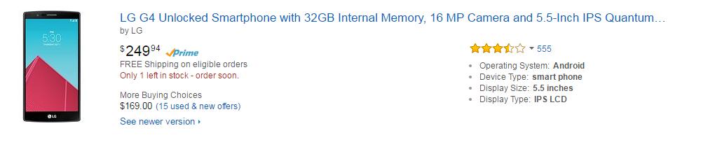 Amazon Mobiles - LG G4