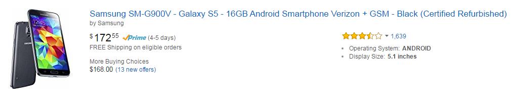 Amazon Mobiles - Samsung SM-G900V Galaxy S5