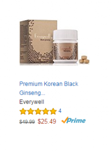 Premium Korean Black Ginseng Pesticide-Free 6 Years Roots 10% High Ginsenoside 90 Tablets 27000mg for 1 Month Authentic Made in Korea