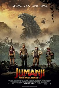 Jack Black, Kevin Hart, Dwayne Johnson, and Karen Gillan in Jumanji Welcome to the Jungle 2017