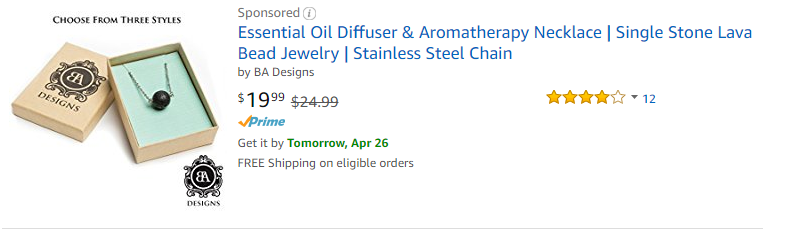 Essential Oil Diffuser & Aromatherapy Necklace Single Stone Lava Bead Jewelry Stainless Steel Chain