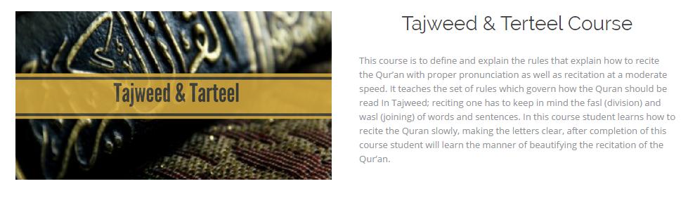 tajweed and tarteel course